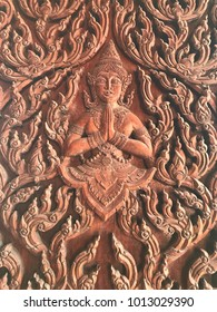 Hand carved Thai statue image.