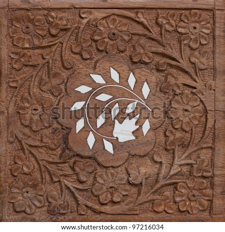 hand carved wood flower ornament texture stock photo edit now