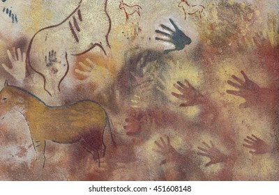 HAND CAVE PAINTING