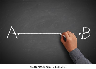 Vector Drawing Straight Lines : Point a to b images stock photos vectors shutterstock