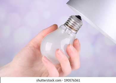 Amazing Changing Light Bulb Images Stock Photos Vectors Shutterstock Wiring Cloud Oideiuggs Outletorg