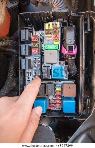 hand checking fuse fuse box modern stock photo (edit now) 468947399 how does a modern fuse box work modern fuse box #12