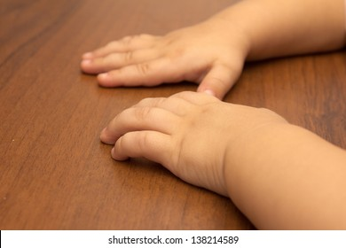 hand of a child