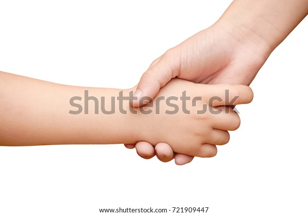 Hand Child Shaking Hands Teenager On Stock Photo (Edit Now) 721909447