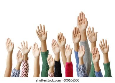 Hand of children