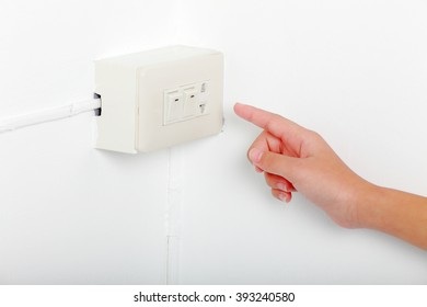 hand close to electric-switch