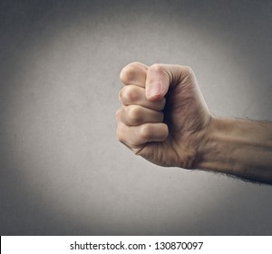 hand with closed fist
