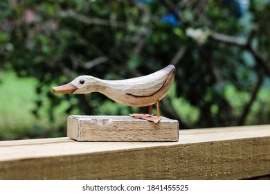 Hand crafted / carved wooden duck.