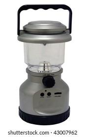 Hand cranked lantern and radio isolated