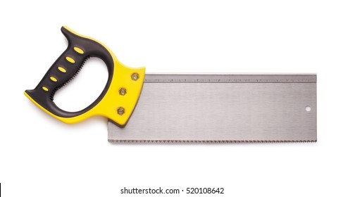 Hand crosscut saw isolated on white background