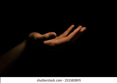hand in the dark