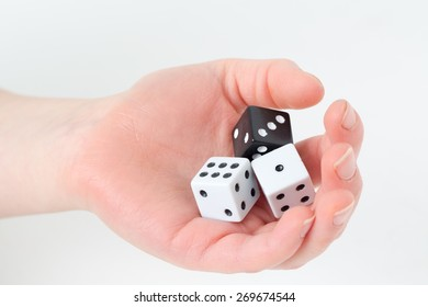 Hand with dice.