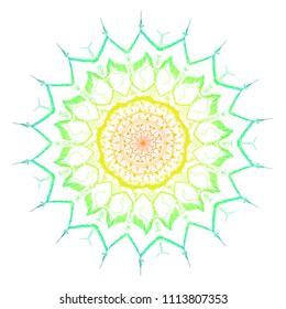 Hand draw colorful mandala pattern