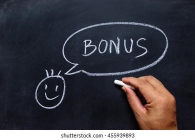 hand drawing bonus on the blackboard