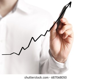 hand drawing a chart show