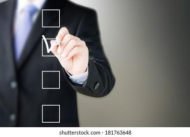 hand drawing check box
