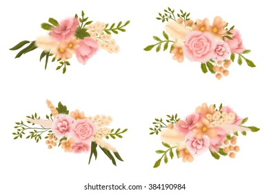 hand drawing flowers clip art