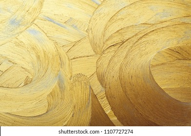 hand drawing paint gold brush stroke