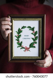 Hand drawing photo of Christmas day card