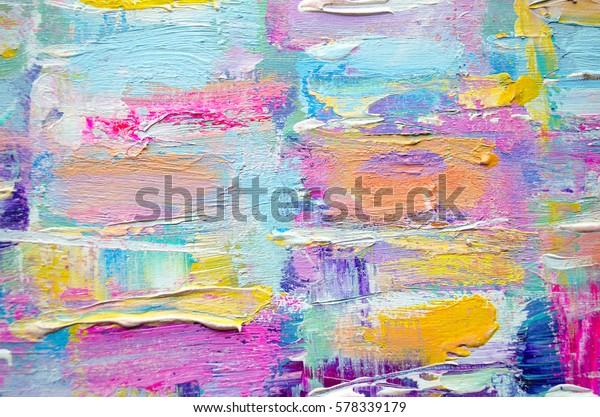 Goede Hand getekend acryl schilderij. Abstracte kunstachtergrond IM-51