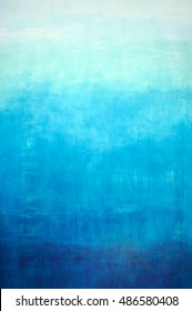 Hand drawn blue gradient background on wall