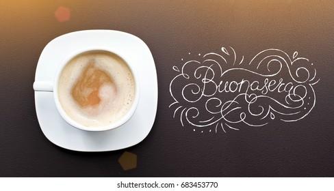 Coffee Quote Inspire On Coffee Latte Stock Photo Edit Now