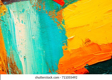 Oil Painting Abstract Wallpaper
