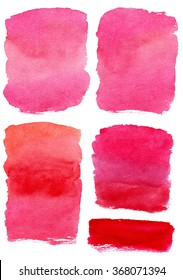 Hand drawn pink watercolor abstract texture. Raster background.