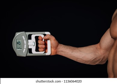 Hand dynamometer, close up