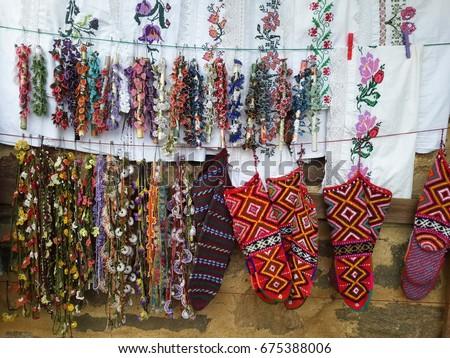 Hand Embroidery Flower Socks Turkish Handicraft Stock Photo Edit