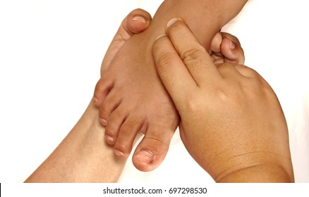 Hand examine or palpate foot dorsalis pedis pulse for assessment of foot health