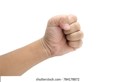 Hand fist with clipping path.