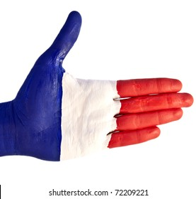 hand flag of France