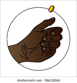 Hand Flipping Gold Coin