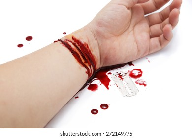 Wrist Bleeding Images, Stock Photos & Vectors | Shutterstock