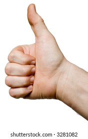 Hand gesture - concept symbol. Thumbs up - OK sign