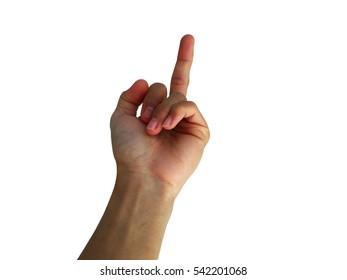 Hand gesture of frustration, anger, revenge.