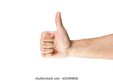 Hand gesturing on a white background