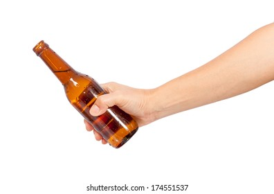 hand giving a bottle of bear