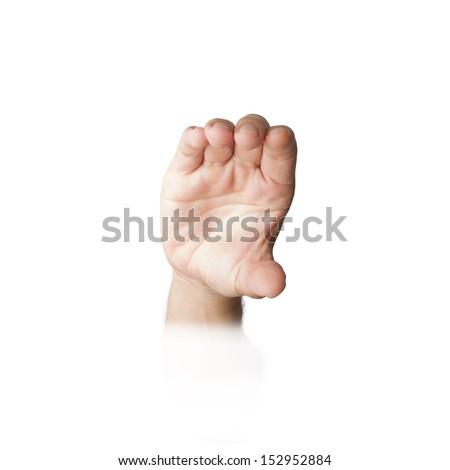 Hand Grab Gesture Stock Photo (Edit Now) 152952884 - Shutterstock