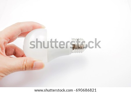 Hand Grab LED Light Bulb On Stock Photo (Edit Now) 690686821