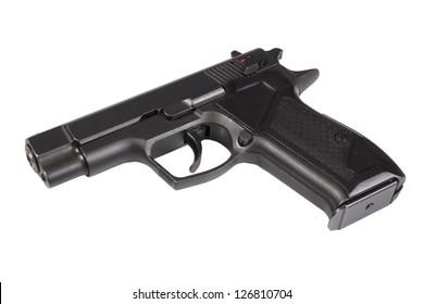 hand gun isolated on white background