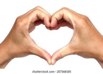hand heart shape