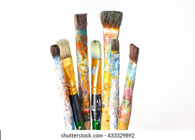 Hand hold Brushes and art supplies