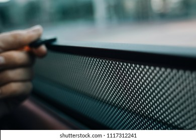 Hand hold car side window curtains sunshades. Insect screen