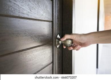 hand hold handle of door close up & Close Door Images Stock Photos \u0026 Vectors | Shutterstock
