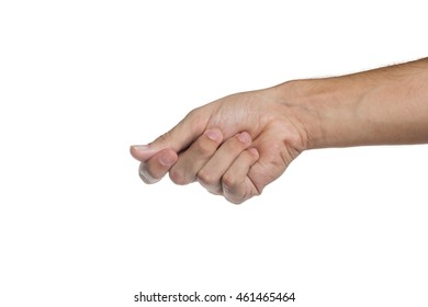 hand hold isolated