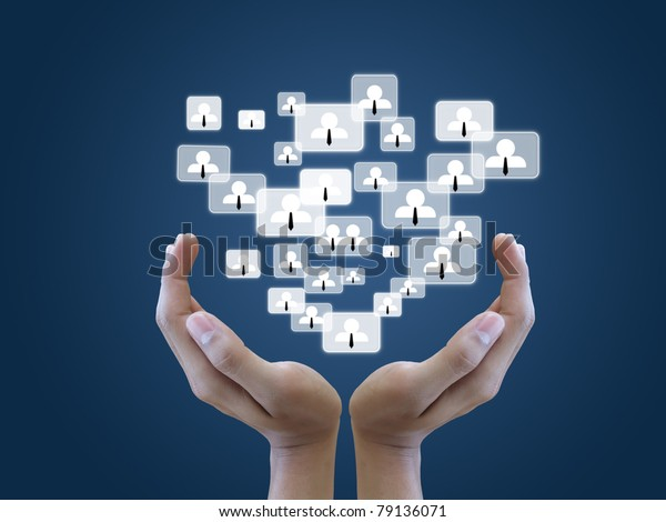 Hand hold social network