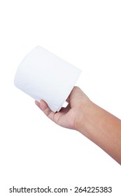 hand hold toilet paper