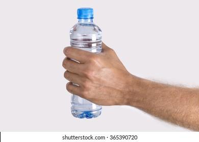 Hand Holding Bottled Water